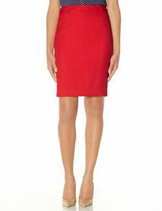 Trimmed Slant Seam Pencil Skirt from THELIMITED.com #TheLimited #Skirt #WeartoWork #W2W