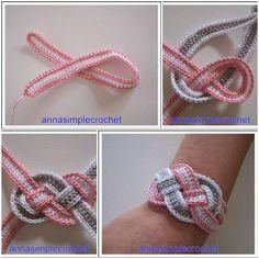 DIY Crochet Bracelet Tutorial