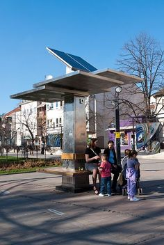 Free Public Solar-Powered Charging Stations - Green Cities Campaign: Public solar charging stations for mobile devices have begun popping up around Eastern Europe. The charging stations, called Strawberry Trees, are the vision a Serbian startup company whose mission is to show the practicality of renewable energy through real world application. What are you doing for Earth Day? #eco #green #solar #energy #earthday #urbanspace