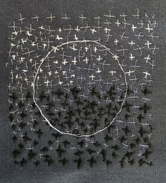 Inspired little stitched piece a la - Judy Martin