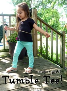 Tumble Tee Tour and Pattern Giveaway @ EmmylouBeeDoo (omg look at Em's little feet!!)