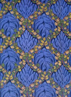 Textile design by G C Haite, produced by G P & J Baker in 1890.