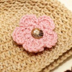 CROCHET PATTERN Interchangeable Beanie & Flowers (5 sizes