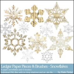 ledger paper snowflakes