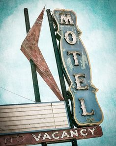 Country Lane Motel by Shakes The Clown, via Flickr   Great photo set featuring vintage signs!