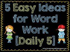 Inexpensive, easy word work ideas