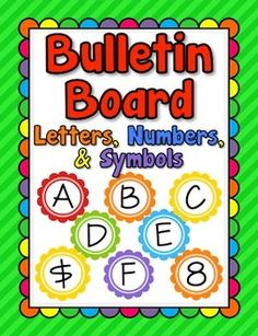 Bulletin board letters on pinterest bulletin boards for Letters for bulletin boards templates