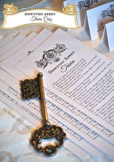 Make Life Lovely: Downton Abbey Tea Party + Free Printable Downton Abbey Trivia Quiz