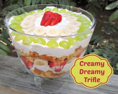 Creamy Dreamy Trifle - Light and fruity with a filling that resembles a lemon meringue pie!