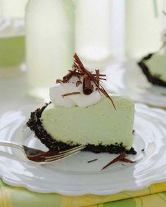 Comfort Desserts // Grasshopper Pie Recipe