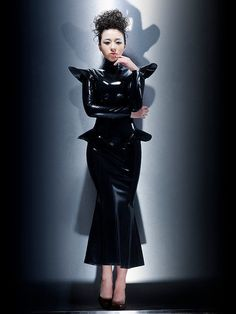 Fashion Queen dominant latex dress by LatexCatfish on Etsy, $130.00
