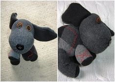 DIY Sock Toys - Dog Aww, look at him! He's even making cute puppy eyes. To make this little cutie, you will be needing only one sock. You will also need buttons, stuffing, felt, and fleece fabric. Check out Cut Out and Keep for the complete tutorial.