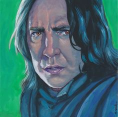 Professor Snape Done on 6x6 inch Aquabord with Winsor & Newton Gouache Paints