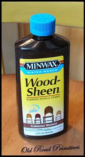 use this stain by minwax to 'age' furniture