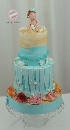 Beach Baby, Baby Shower Cake