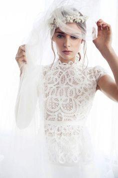 wedding dressses, lace wedding dresses, bridal gown, ell blous, white, de sein, veil, bride, rue de