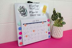 I came up with this DIY Command Center perfect for Back To School Organization.  We bought everything for it from Walmart and added some fun designs and things from the amazing membership site Makers Gonna Learn.