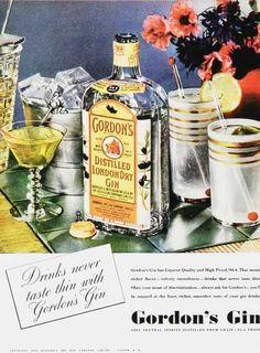 Vintage gordons gin advert