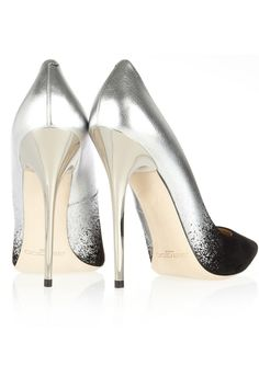 Jimmy Choo metallic leather and suede pumps. Incredibly pretty.