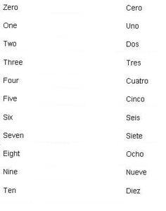 Spanish Words for Numbers - Learn Spanish
