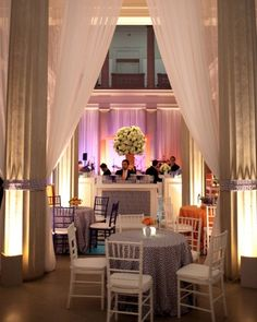 cocktail wedding reception with greek key pattern | Ritzy Bee Events + @A Bryan Photo