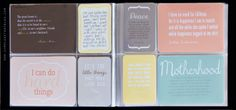 Good idea to put all your fave quotes ina mini album.