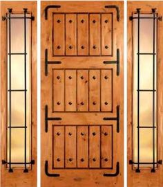 jeld-wen 1303 Handhewn Knotty Alder Door Wheat Finish Clavos