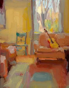 Christine Lafuente, Living Room with Guitar
