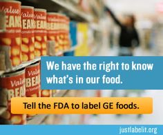 We have the right to know what's in our food