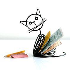 cute cat letter holder
