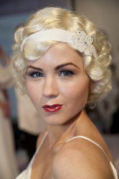 Gatsby style makeup for a wedding - nice idea!  #gatsby #style #greatgatsby #wedding