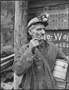 Coal miner, Lejunior, Harlan County, KY, 1946. Kentuckiana Digital Library.