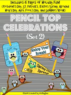 These fun pencil toppers are a great way to show students that you are thinking about them without breaking the bank. ($) USE THEM AS BOOK MARKS! WAHOO!