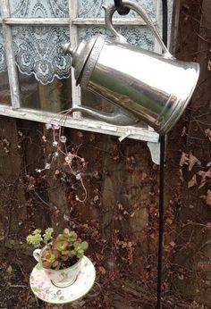 Garden art - teapot by Sherie Tillman