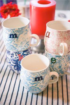 customized mug bridesmaids gifts for day-of-wedding coffee #bridesmaids #gift @Judith de Munck Clark chicks http://www.weddingchicks.com/2014/01/24/pinterest-inspired-vintage-wedding/