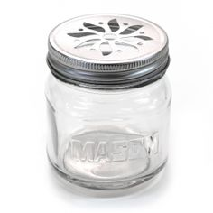 8-Ounce Mason Jars With Flower Lid (Set of 12)