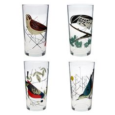 Oldham + Harper Birds Glasses Set of 4      Your Price: $30.00
