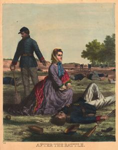 In the Swan's Shadow: Lithograph: After the Battle 1862-65