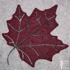 Maple Leaf Applique Block template by Wee Folk Art