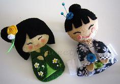 Felt Kokeshi Dolls. These are super cute dolls. Fun YW project