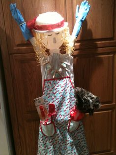 Ironing Board Lady-everything you can think of for a bridal shower gift.