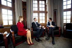 Talks: Along with Willem-Alexander, Mr Rutte met Felipe and Letizia who represent the Spanish government