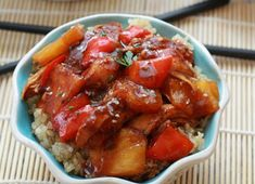 Get ready for an Asian-inspired, easy slow cooker sweet and sour chicken recipe that is so much better than take out sweet and sour chicken. This Healthier than Take Out Sweet and Sour Chicken recipe will make choosing what to have for dinner a no-brainer.