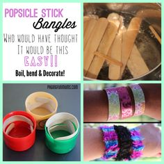 DIY Popsicle Stick Bangles - These are awesome!