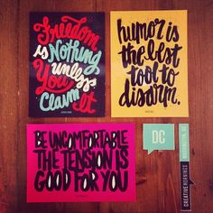 Instagram by @swatchroom from CreativeMornings/DC. All quotes lettered by the talented Carolyn Sewell.