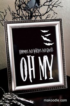 Halloween Printable Decoration - vampires and witches and ghosts oh my!