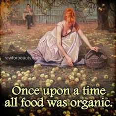 """Once upon a time, people ate """"food."""" Then corporate farming got involved and started using questionable methods to churn out even larger volumes, and somehow the word """"food"""" came to mean anything that could be marketed as allegedly edible, and """"organic food"""" became the new term for the only kind of food our ancestors knew."""