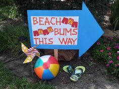 Cute sign for a summer party! #summer