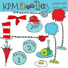 Dr. Seuss clipart by KPM Doodles $2.00
