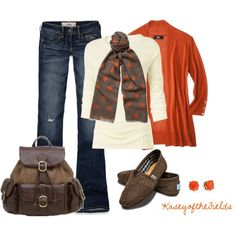 """""""Fall Polka Dots"""" by kaseyofthefields on Polyvore"""